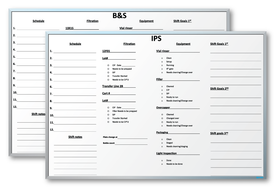 "Bayer USA Scheduling Dry Erase Boards 48"" x 72"""