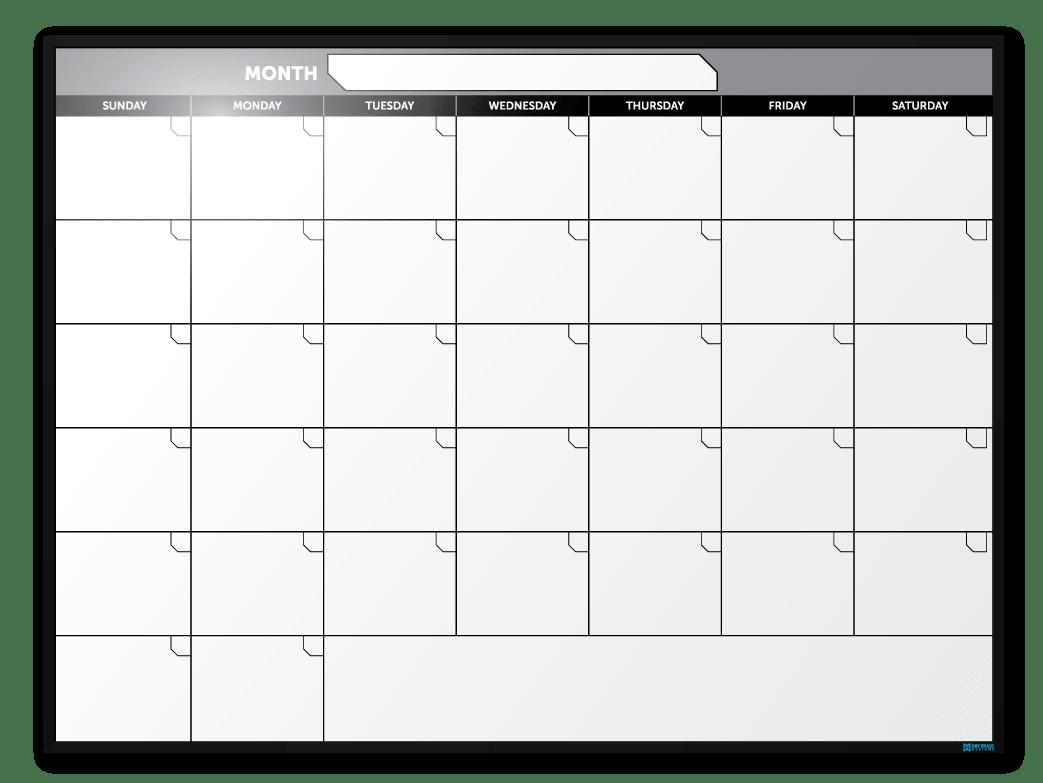 Month at a glance calendar militarybraliciousco for Month at a glance blank calendar template