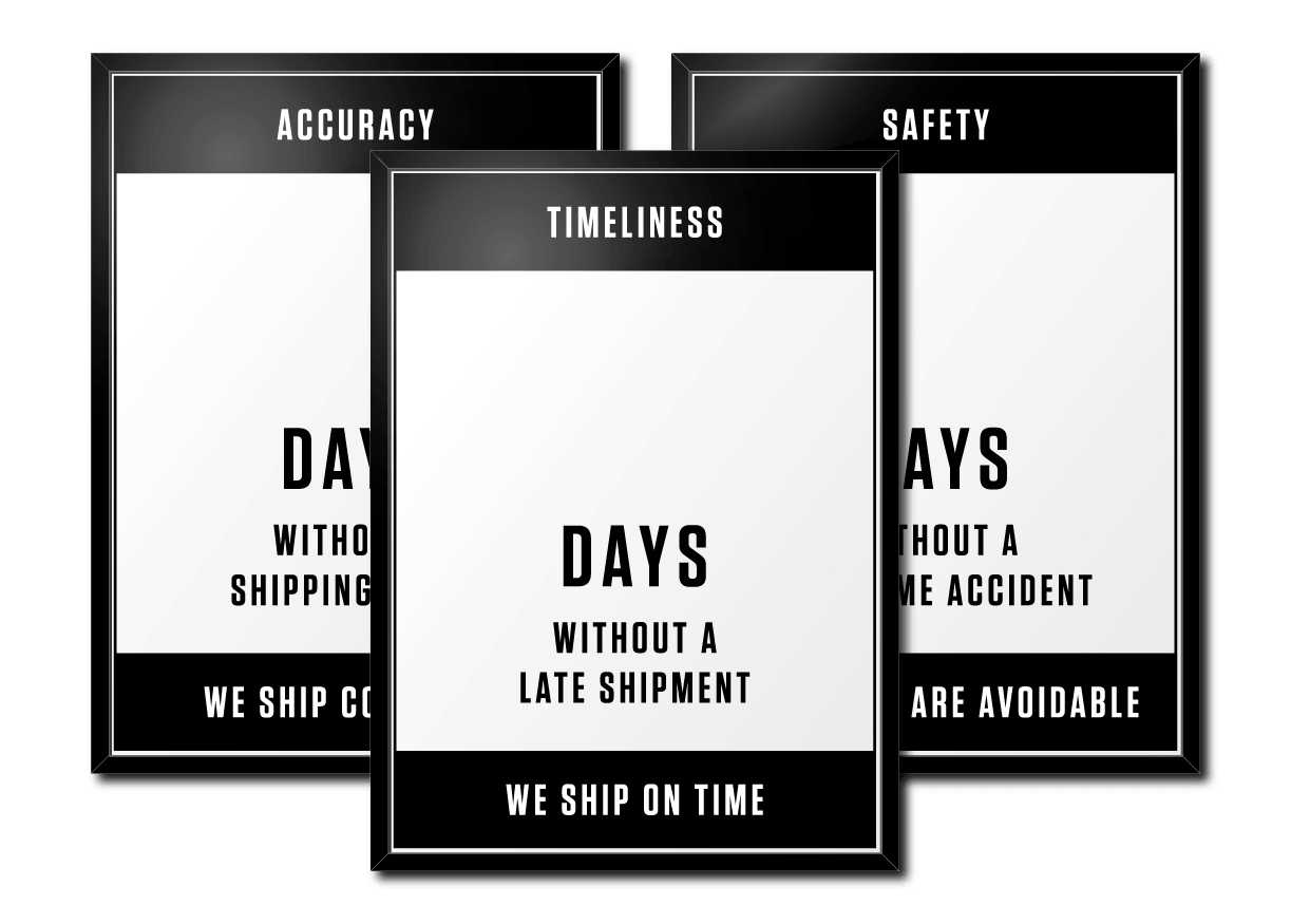 Crow Works Safety Tracker Dry Erase Boards