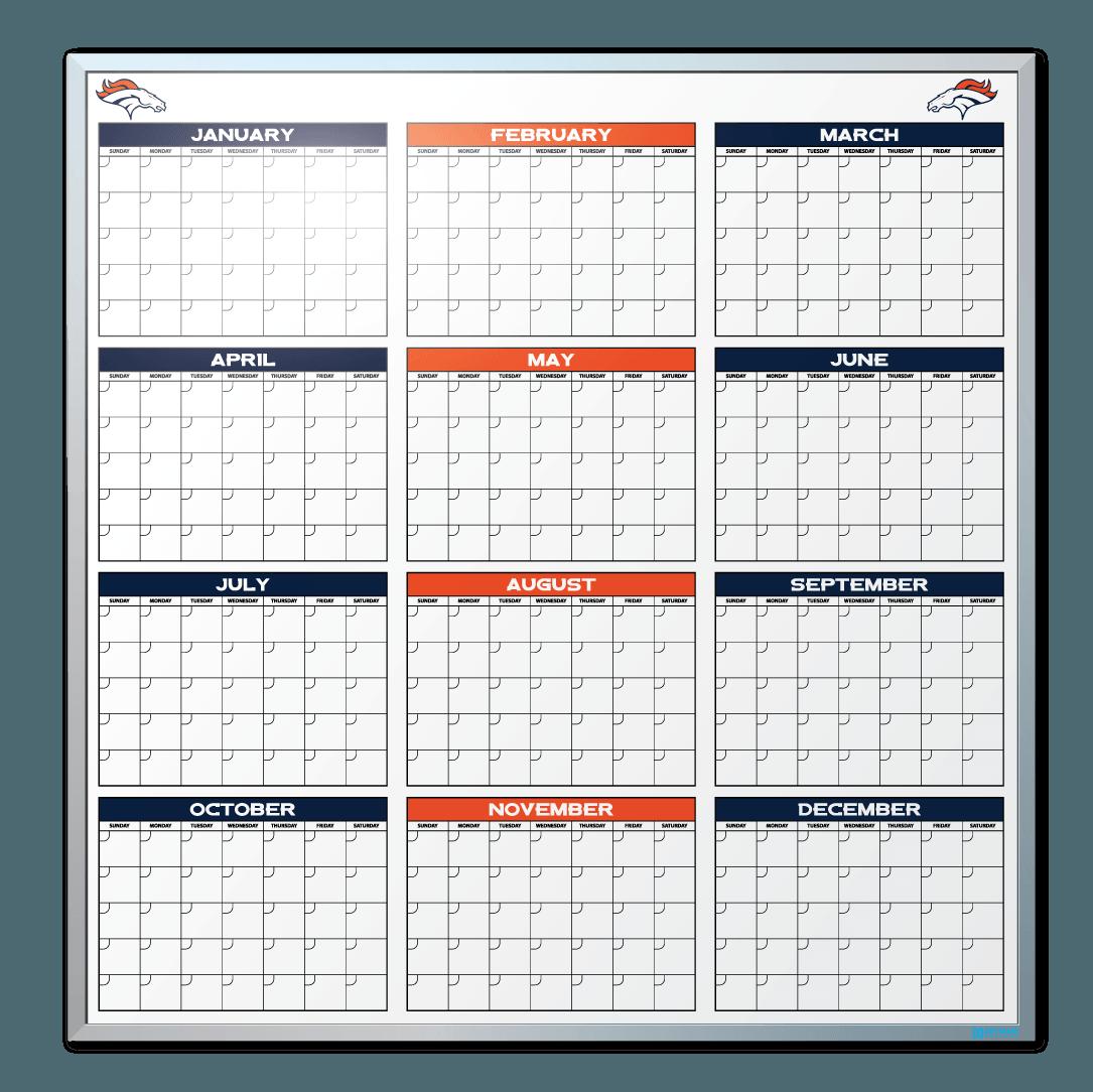 denver broncos calendar dry erase board