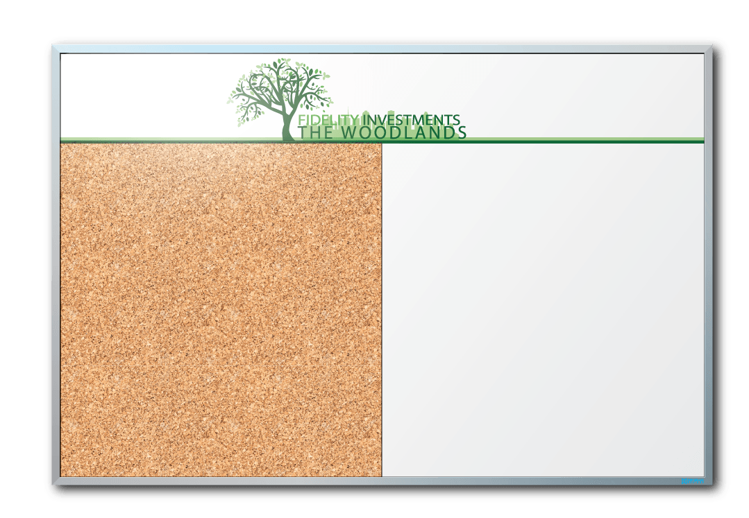 Fidelity Investments Cork Board/Dry Erase Board Combo