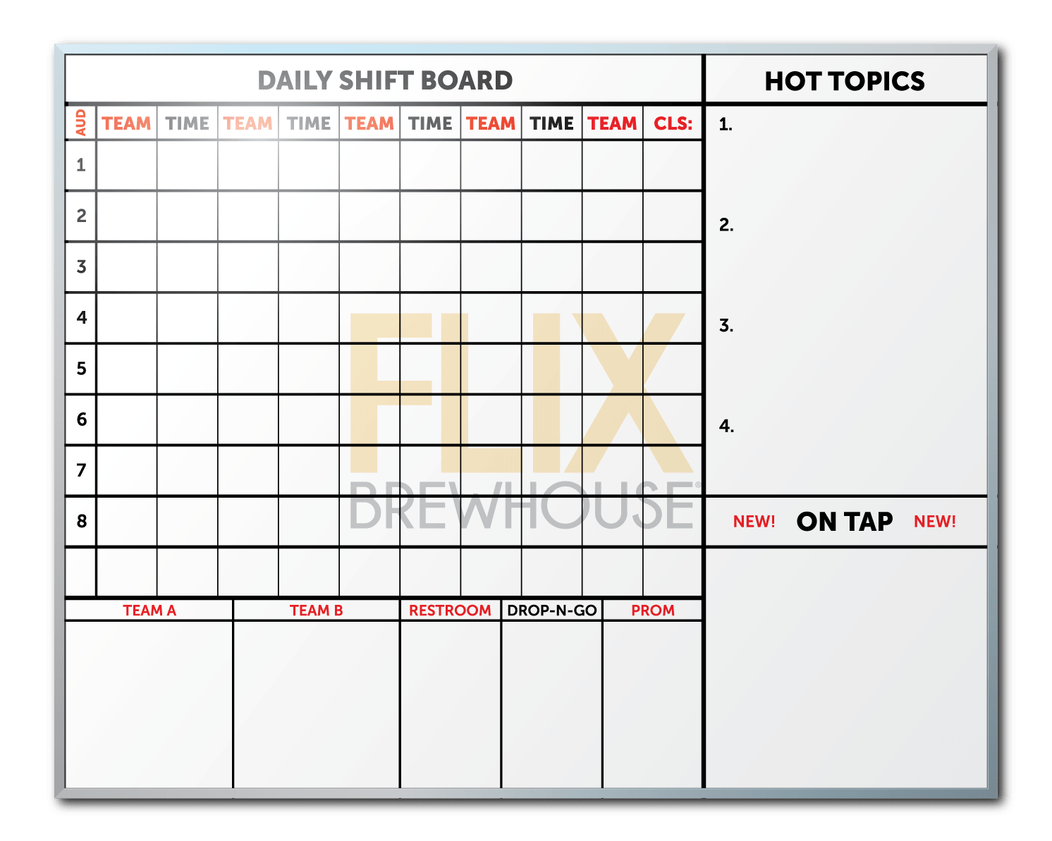 Flix Brewhouse Employee Communication Board