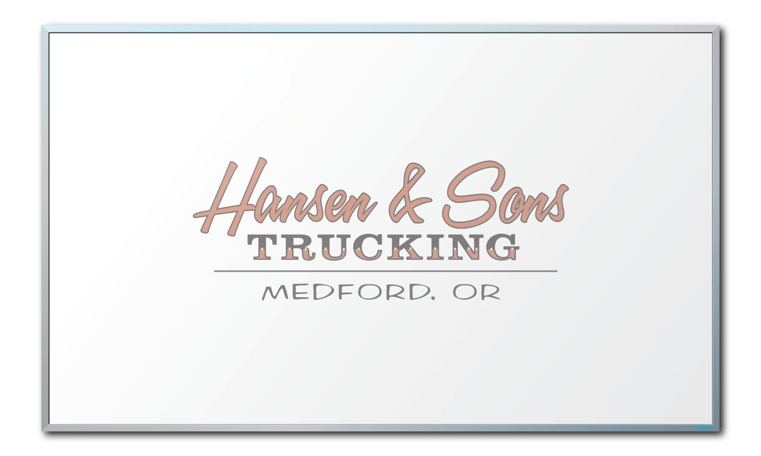 Hansen and Son Trucking Logo Dry Erase Board